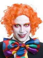 Men's Orange Mad Hatter Wig and Eyebrows Costume Accessory Set