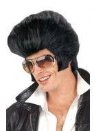 Be The King with this Black Elvis Costume Wig Main Image