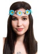 Hippy Blue Daisy Chain Flower Crown Accessory