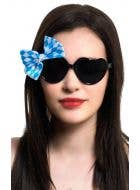 Oktoberfest Novelty Glasses with Bow Costume Accessory