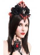 Vampire Queen Black Lace Gothic Wrist Cuffs