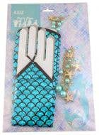 Mermaid Blue Costume Jewellery Accessory Set with Gloves