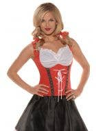 Beer Wench Sexy Women's Red Costume Top