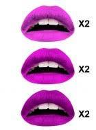 Purples Temporary Lip Tattoos - 3 Colour Multi-pack