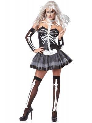 Women's Sexy Skeleton Masquerade Halloween Costume