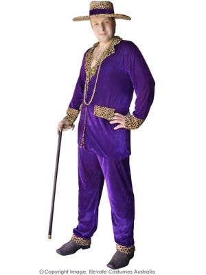 Top Pimp Plus Size Men's Purple Velvet Mac Daddy Costume