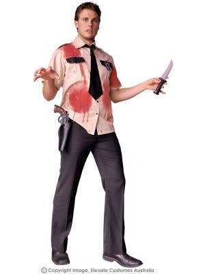Night Guard Men's Halloween Zombie Costume
