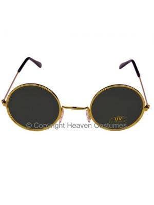John Lennon Round Black Teashade Hippie Sunglasses