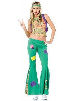 Peace Sign Hippie Women's Sexy 1970's Costume