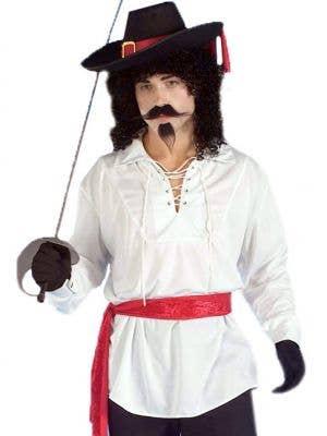 Men's White Swashbuckler Pirate Costume Shirt