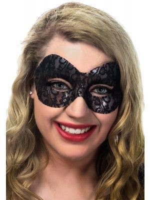 Naomi Black Lace Transparent Masquerade Mask View 1