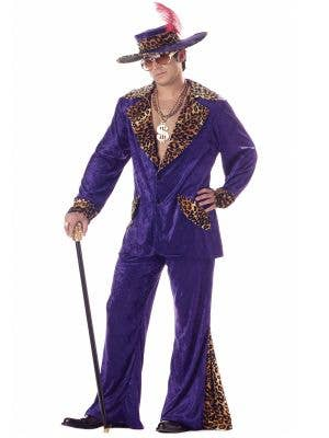 Playa Pimp Men's Purple Velvet Mac Daddy Costume