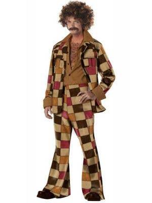 Disco Sleazeball Men's 1970's Patchwork Costume Suit