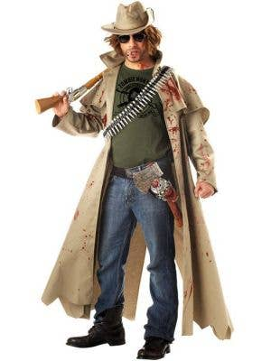 Zombie Hunter Survival Kit Halloween Fancy Dress Killer Axe Machete Bullet Belt
