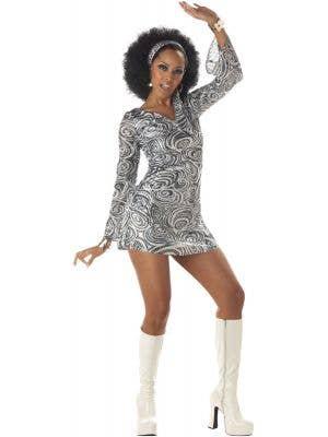 1970's Women's Disco Diva Fancy Dress Costume