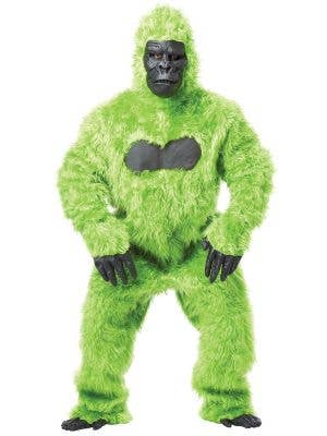 Bright Green Deluxe Gorilla Suit Adult's Costume