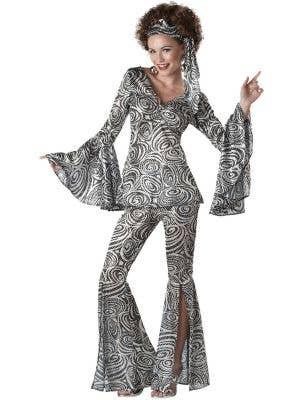 Foxy Lady Women's Holographic 70's Disco Costume