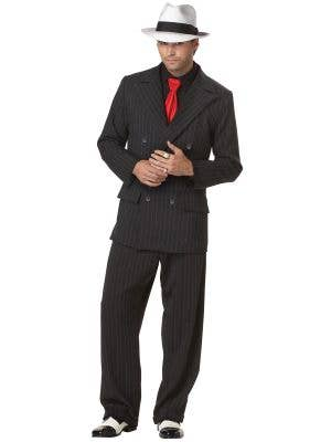 Men's 1920s Mob Boss Gangster Costume Front View