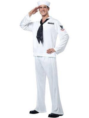 Navy Sailor Men's White Marine Uniform Costume