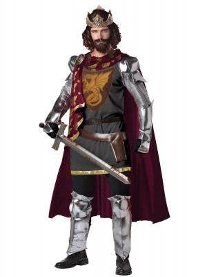 King Arthur Deluxe Men's Medieval Fancy Dress Costume