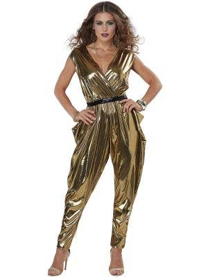 70's Glitz and Glamour Women's Gold Disco Costume