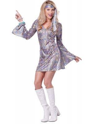 1970's Women's Disco Sensation Fancy Dress Costume