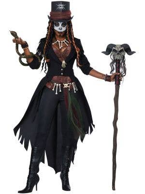 Witch Doctor Voodoo Master Women's Wicked Costume Main Image
