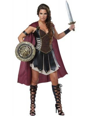 Glorious Gladiator Women's Warrior Fancy Dress Costume Main Image
