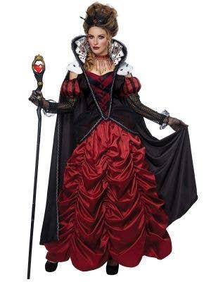 Dark Queen Of Hearts Deluxe Women's Storybook Costume