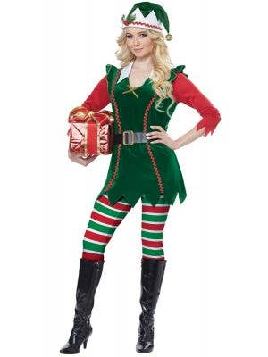 Festive Elf Costume Womens Christmas Outfit