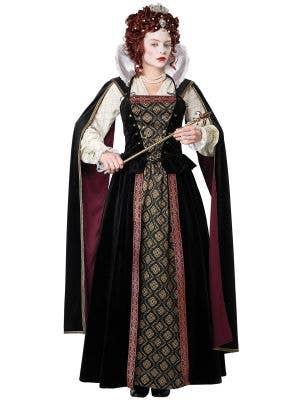 Deluxe Queen Elizabeth I Medieval Women's Costume - Main Image