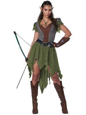 Medieval Elven Hunter Women's Costume - Front Image