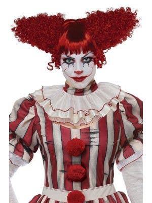 Creepy Clown Women's Red Halloween Costume Wig