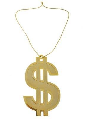 Jumbo Gold Dollar Sign Gangster Bling Necklace