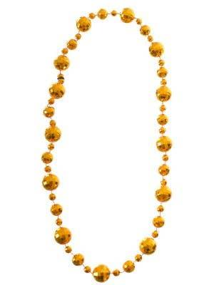 Disco Ball Gold 1970's Necklace Costume Accessory