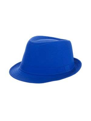 Bright Neon Blue Adult's 1920's Gangster Fedora Costume Hat
