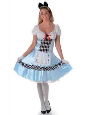 Women's Classic Alice In Wonderland Costume Main Image