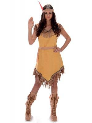 Women's Pocahontas Fancy Dress Costume Main Image