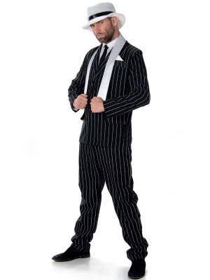 Gangster Boss Men's 1920's Pinstripe Dress Up Costume