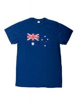 Blue Men's Adult's Australia Day Australian Flag T-Shirt