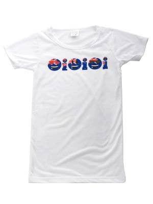 Kids Aussie Flag Oi Oi Oi Australia Day T-shirt