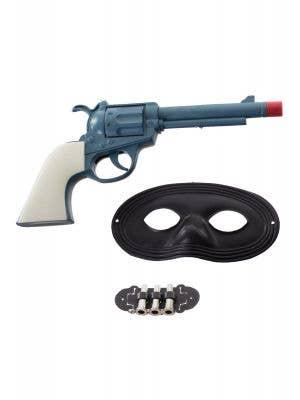 Cowboy Bandit Gun and Mask Set View 1