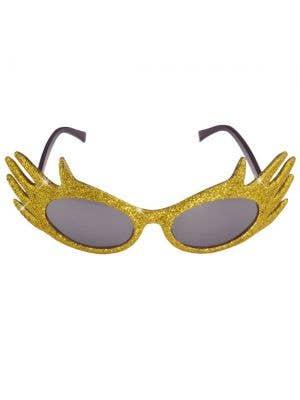 Dame Edna Gold Glitter Glasses