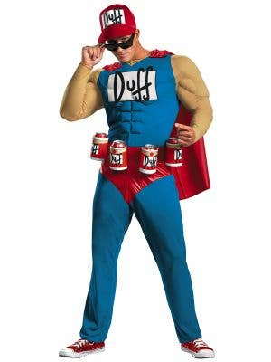 The Simpsons Duffman Plus Size Muscle Chest Costume