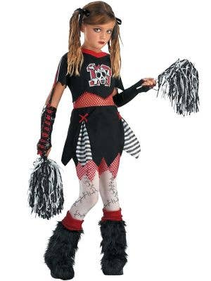 Cheerless Leader Tween Girls Cheerleader Halloween Costume