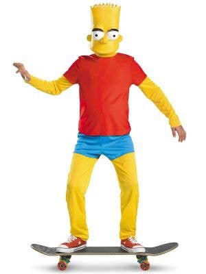 Bart Simpson Boy's Cartoon Character Dress Up Costume Front
