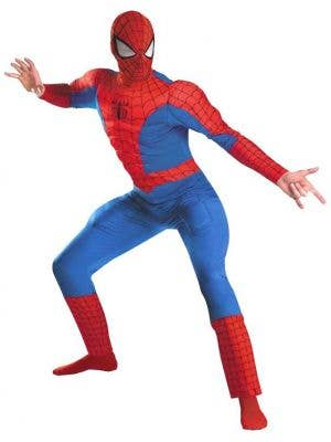 Muscle Chest Deluxe Spiderman Marvel Comics Superhero Mens Costume Main Image