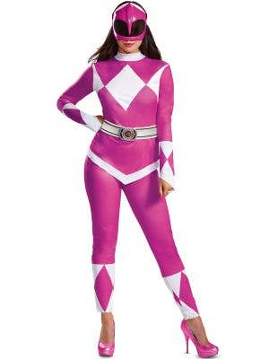 Plus Size Women's Deluxe Pink Power Ranger Costume - Main View