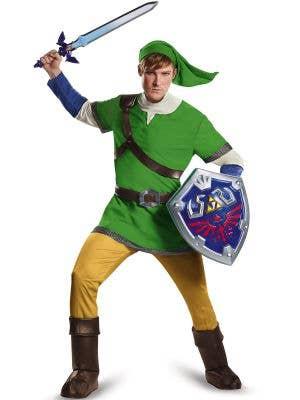 Men's Link Legend Of Zelda Costume - Front Image