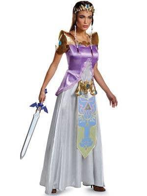 Women's Deluxe Princess Zelda Game Character Costume - Front Image